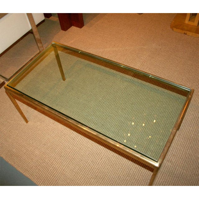 Mid-Century Modern Bronze and Bird's Beak Glass Top Terry Table for Scope Furniture For Sale - Image 3 of 5