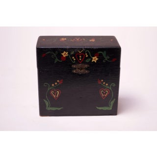 Early 20th Century Folk Art Hand-Painted Recipe Box Preview
