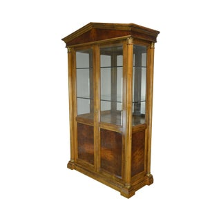 French Empire Style Display Vitrine Curio Cabinet For Sale