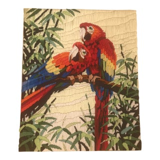 Macaw Bird Crewel Wall Art