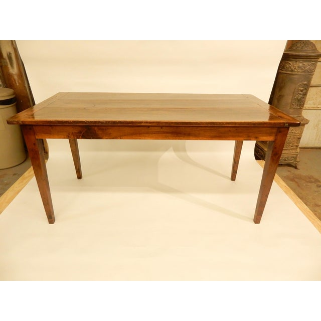 French Provincial Walnut Farm Table For Sale In New Orleans - Image 6 of 6