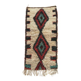 1990s Berber Shag Evil Eye Rug - 3′3″ × 6′3″ For Sale