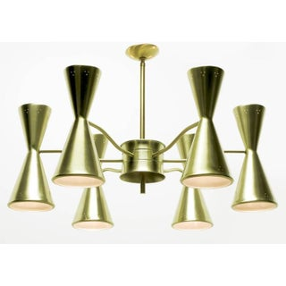Litecraft Chandelier With Six Pierced Hourglass Shades and Twelve Lights Preview
