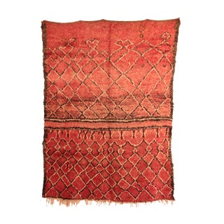 """1970s Boho Chic Moroccan Rug - 6'3"""" X 8'4"""" For Sale"""