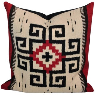 Early Mexican Tex Coco Indian Weaving Pillow For Sale