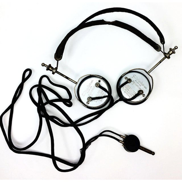 1920s 4 Tube Regen Wood Case Radio & C. Brandes Headphones - Image 9 of 10