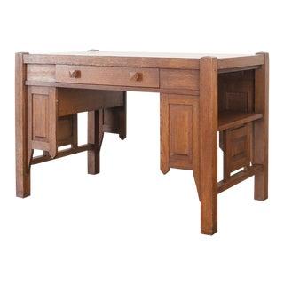 Mission Arts & Crafts Oak Desk For Sale