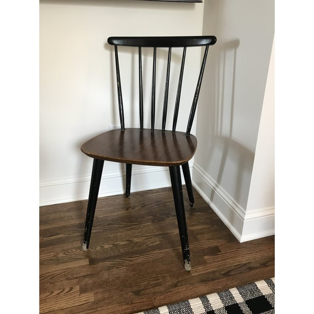 Mid-Century Modern Vintage Danish Windsor Chair For Sale - Image 3 of 13