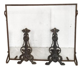 Image of French Andirons and Chenets
