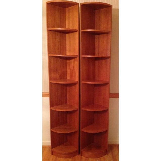 Scandinavian Style Corner Shelves - Pair - Image 2 of 6