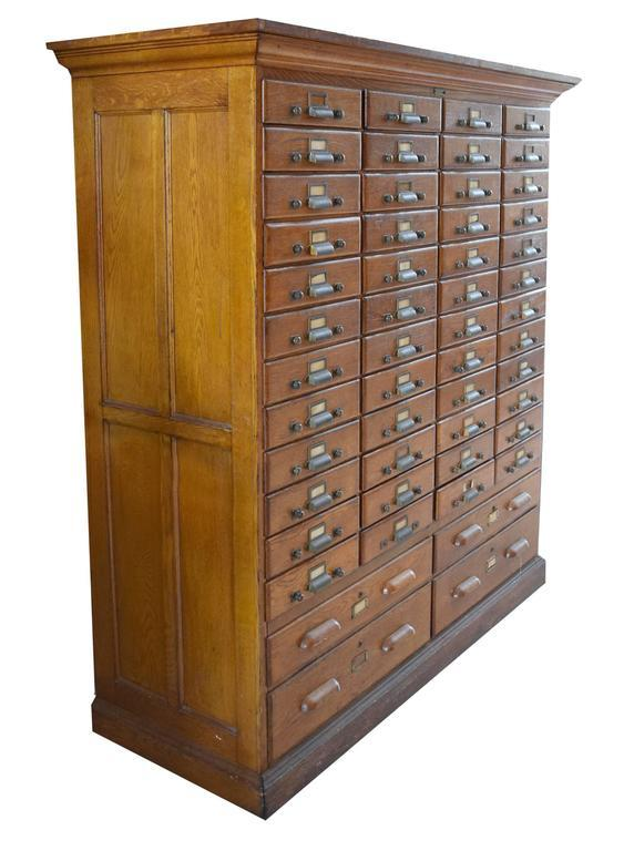 American Oak Multi Drawer File Cabinet   Image 2 Of 7