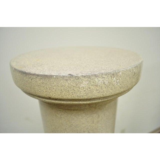 """Vintage Pair of 60"""" Faux Concrete Fiberglass Columns Pedestal Sculpture Plant Stands For Sale - Image 9 of 11"""