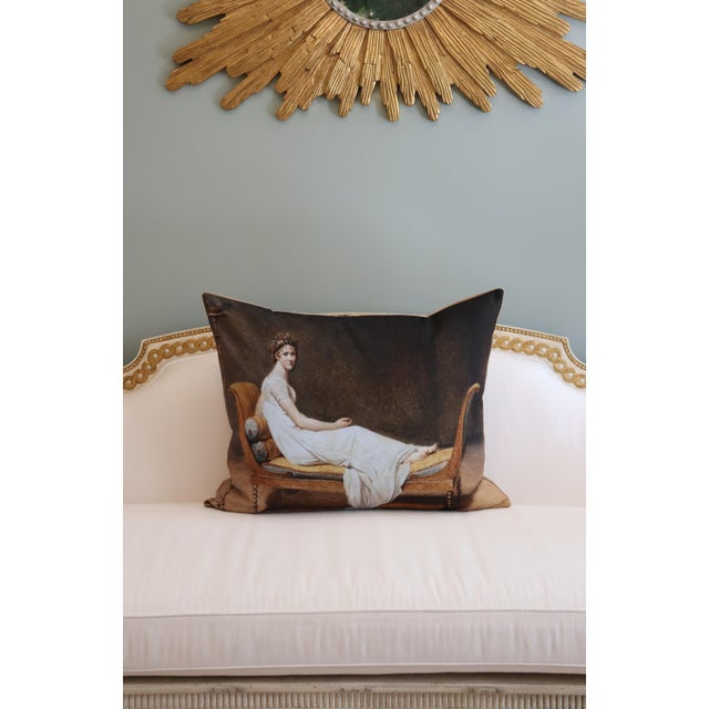 Brown Paris Photo Pillow Juliette Recamier For Sale - Image 8 of 12