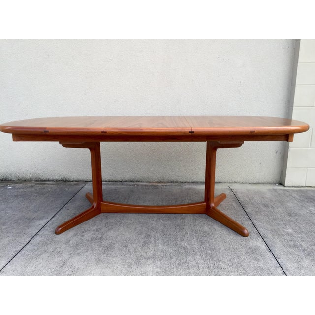 Mid-Century Expandable Teak Dining Table - Image 9 of 11