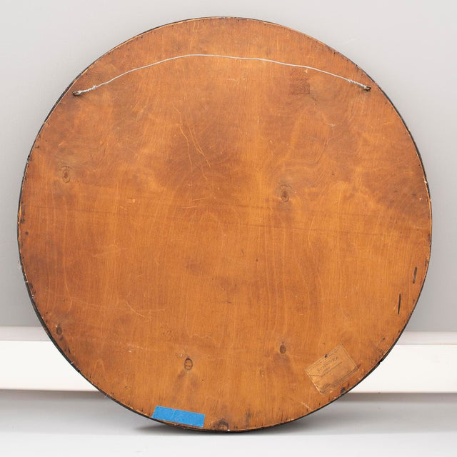 Large Round French Barbola Mirror For Sale - Image 9 of 10