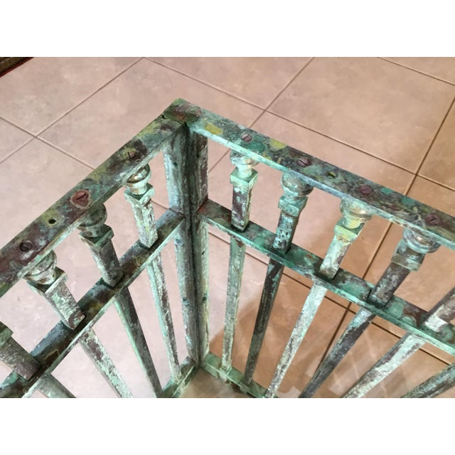 Vintage Square Bronze and Brass Coffee Table For Sale - Image 10 of 13