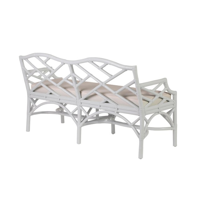 Chippendale Chippendale Bench - White For Sale - Image 3 of 6
