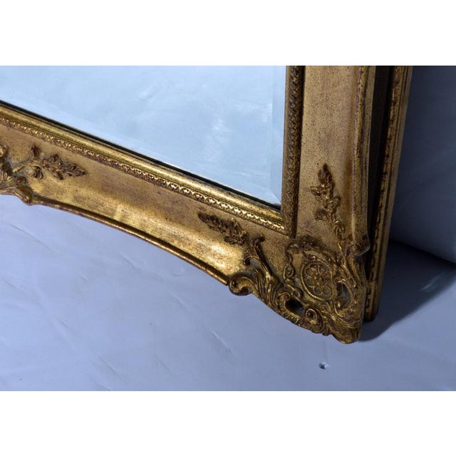 French Hollywood Regency La Barge Gold Tone Beveled Glass Mirror For Sale - Image 3 of 9