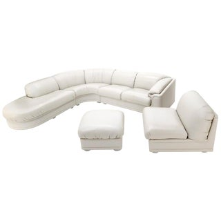 Roche Bobois Living Room Set Sectional Corner Sofa Lounge Chair Ottoman For Sale