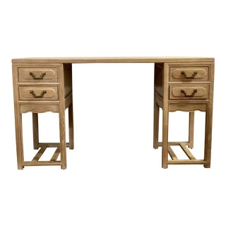 1990s Ming Century Furniture Sobota Collection Blonde Writing Desk For Sale