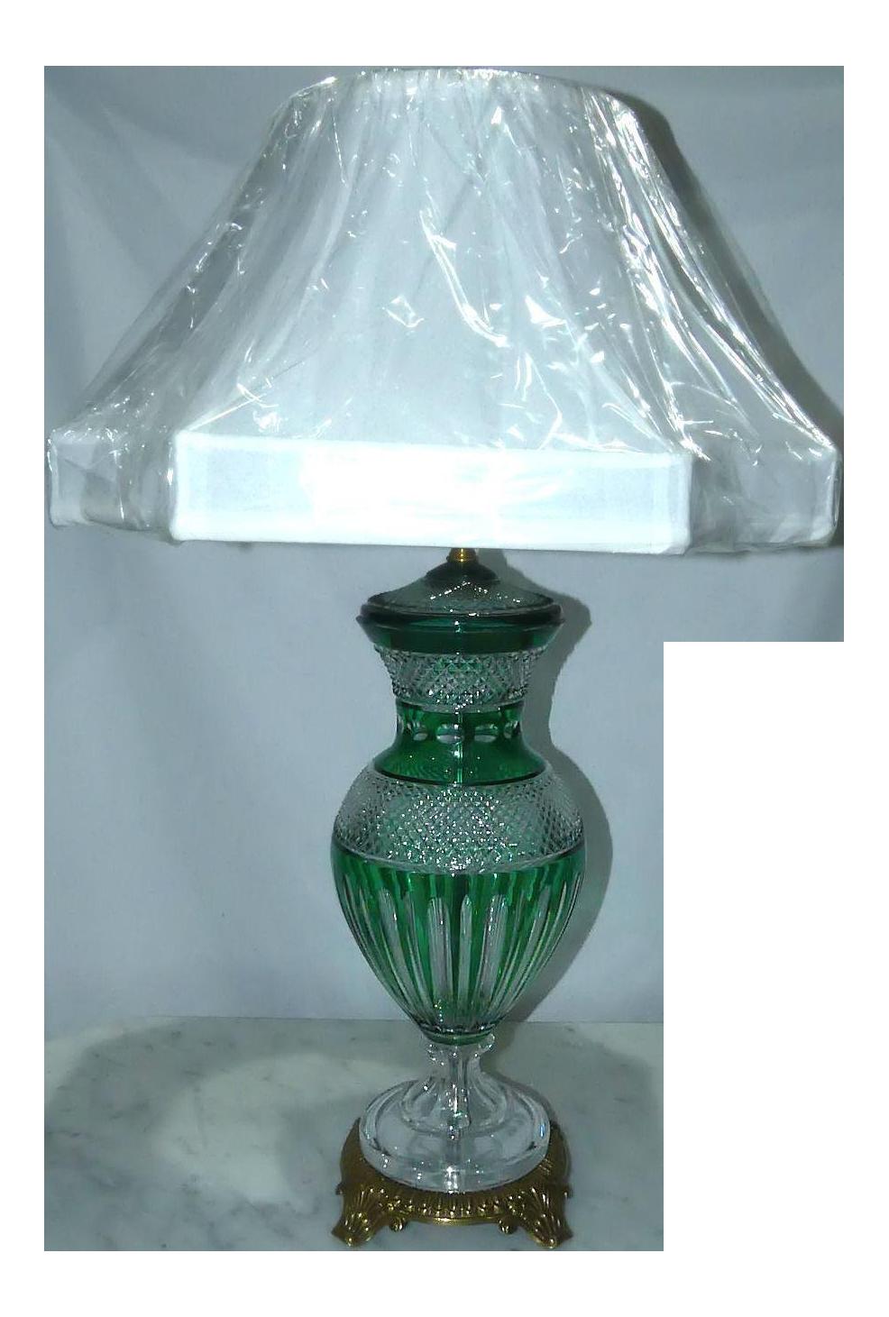 Hungarian Emerald Green Crystal Table Lamp Chairish