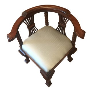 Antique Mahogany Children's Corner Chair
