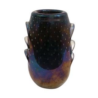 Iridescent Murano Glass Vase