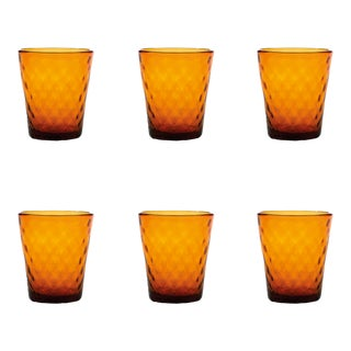 Balloton Tumbler in Amber - Set of 6 For Sale
