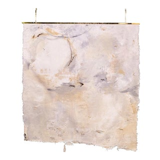 Japanese Lace Mixed Media Canvas by Jane Lorentsen For Sale