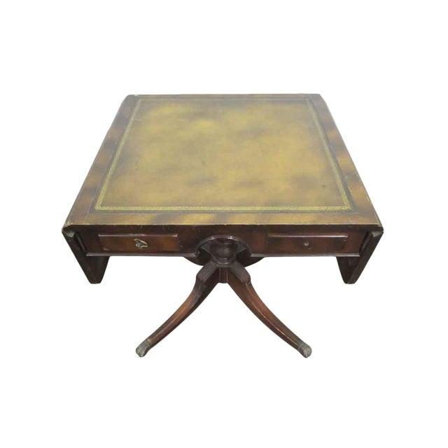 Wood Folding Table With Drawers - Image 1 of 7