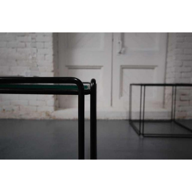 Pair of Minimalist Tables by Max Sauze For Sale In Providence - Image 6 of 7
