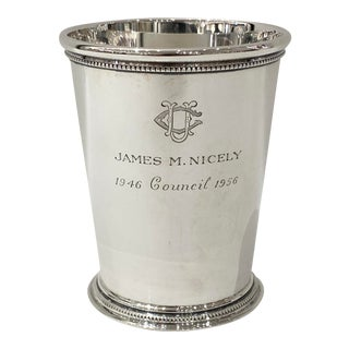 Tiffany & Company Sterling Mint Julep Cup For Sale