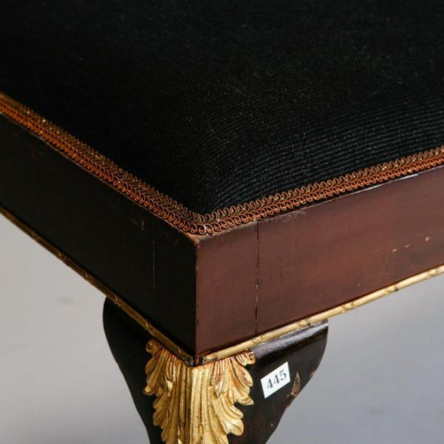 English Mahogany Bench with Ormolu Mounts - Image 3 of 5