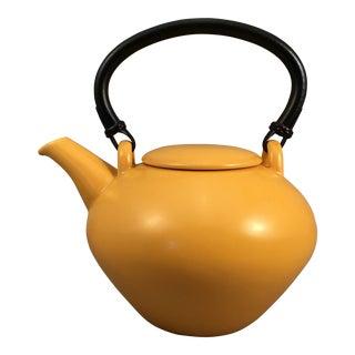 1960s Swedish Modern Hoganas Ceramic Teapot For Sale