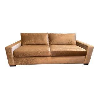 Modern Sofa in Silver Velvet by Bernhardt For Sale