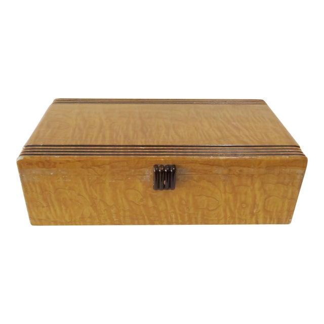 Vintage Decorative Wood Box - Image 1 of 7