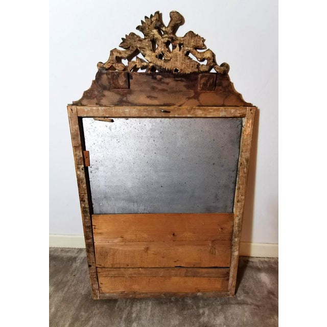 1750 French Louis XVI Gold Leaf Wood Mirror For Sale - Image 11 of 13