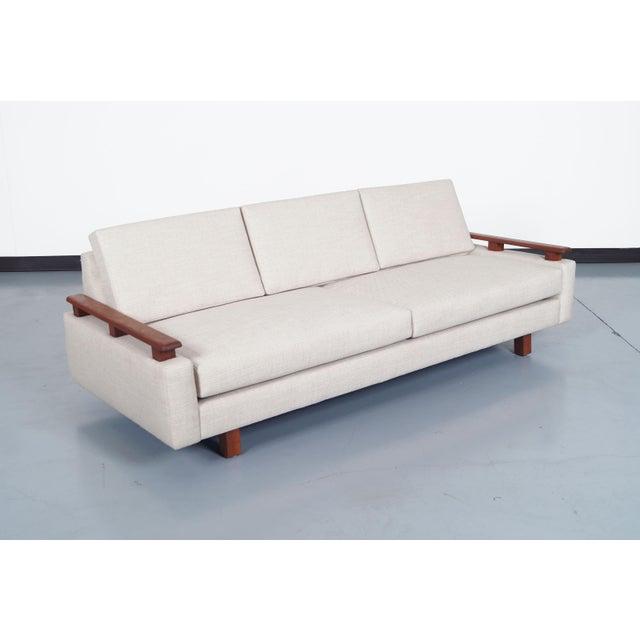 Mid Century Modern Walnut Sofa - Image 5 of 6