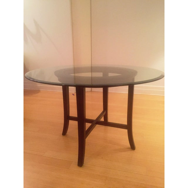 Contemporary Crate and Barrel Halo Round Dining Table For Sale - Image 3 of 3