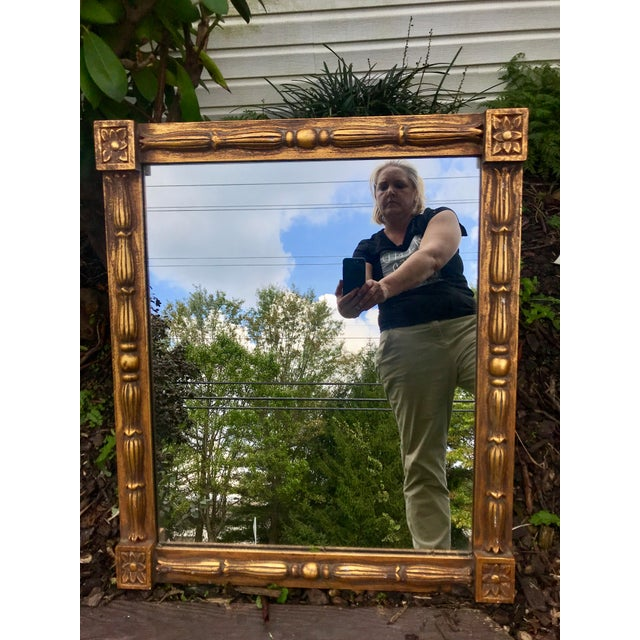 1970s 1970s Vintage Gilt Mirror For Sale - Image 5 of 5
