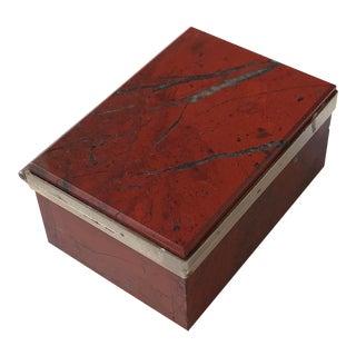 1960s Vintage Morita Gil Stone Jasper Box For Sale