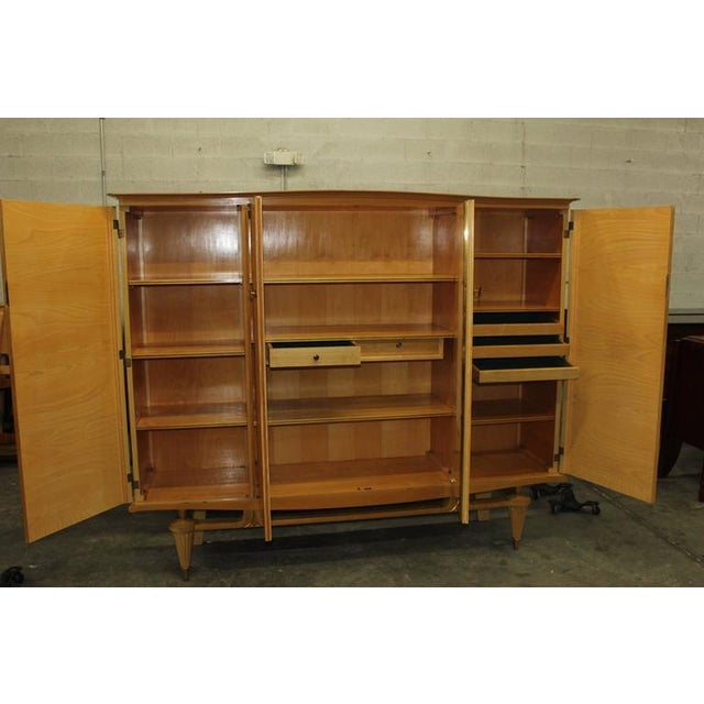 French Art Deco Sycamore Armoire - Image 7 of 7