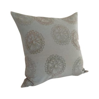 John Robshaw Diya Teal Euro Pillow For Sale