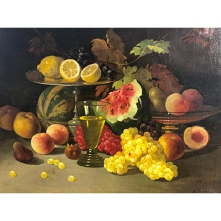 Late 19th Century Still Life With Fruit Oil Painting on Canvas Preview