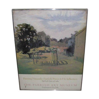 Framed 1984 Exhibit Poster Fairfield Porter & His Influences For Sale
