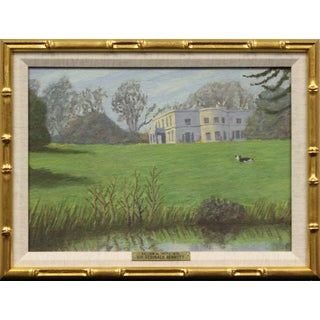 Charming English Country House (Acrylic on Canvas) by Sir Reginald Bennett For Sale