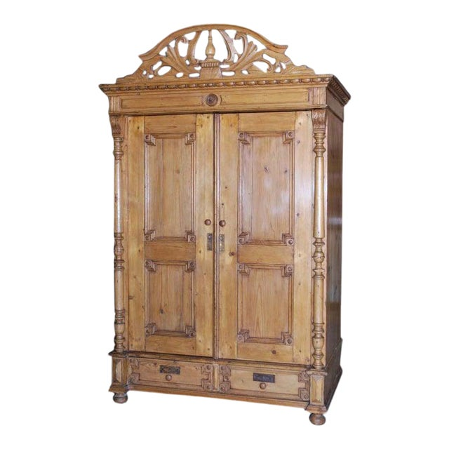 19th Century Baltic Wood Armoire For Sale
