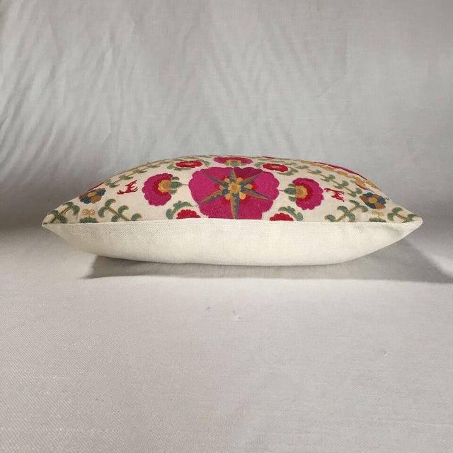 By Kim Salmela, a 14x20 pillow in designer fabrics. Woven ivory cotton/poly reverse, knife edge finish, hidden zipper...