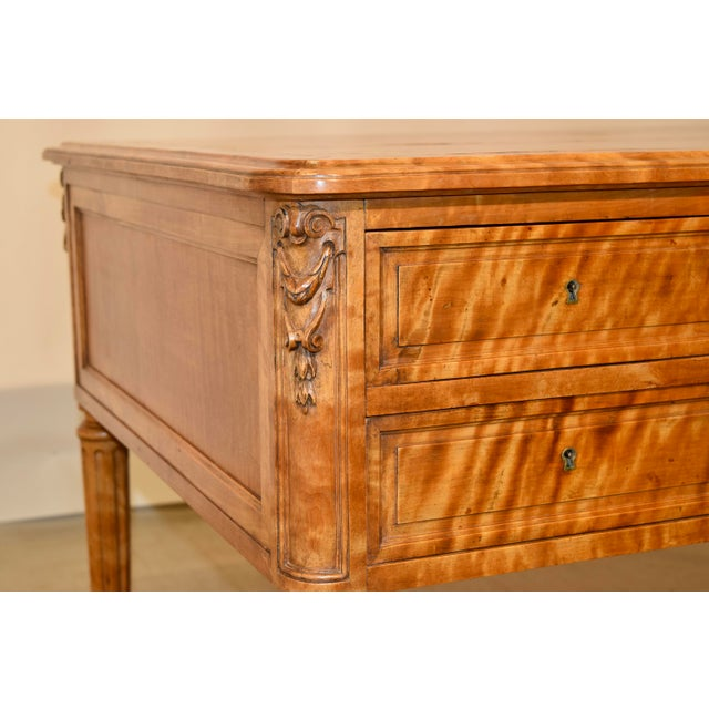 Wood 19th Century Satin Birch Desk For Sale - Image 7 of 12