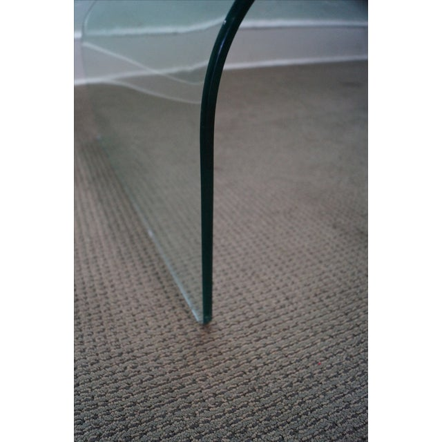 Mid-Century Curved Waterfall Glass Coffee Table For Sale - Image 9 of 10